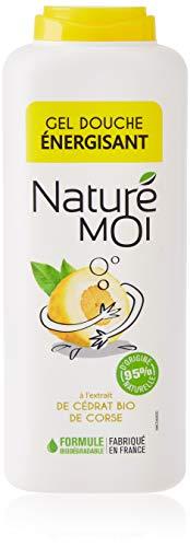 Naturé Moi – Gel douche énergisant à l'extrait de cédrat de Corse bio – Hydrate, nourrit et protège les peaux normales à sèches – 400ml