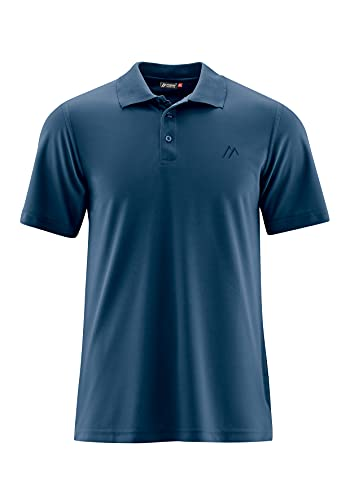 Maier Sports Herren Polo 1/2 Arm T-shirt, aviator, Gr. L