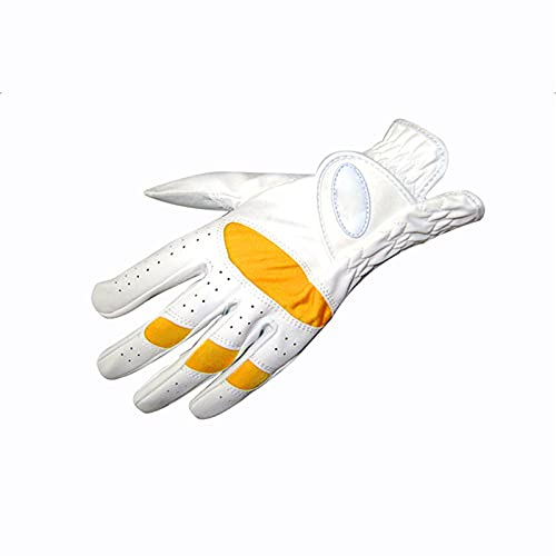GYN Guante de Golf para Mano Izquierda,Guantes de Golf de Deslizamiento Resistente al Desgaste Resistente Transpirable,Cuero PU Premium Soft Glove,18#