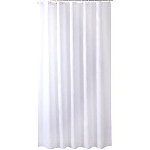 Eanshome Weiß Polyester Anti-Bakteriell Wasserdicht Verdickung Duschvorhang mit Duschvorhangringen