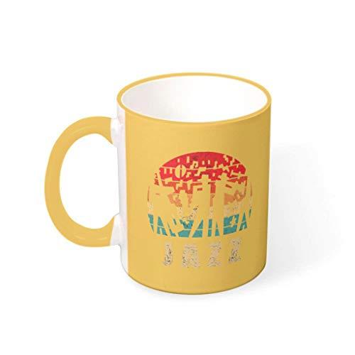 Taza de café Jazz de primera clase de cerámica personalizada moderna – Taza de leche para Lounge goldenrod 330 ml