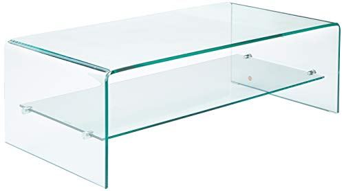 Christopher Knight Home Charlize Glass Coffee Table, beige