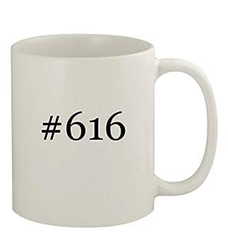 #616-11oz Ceramic White Coffee Mug White