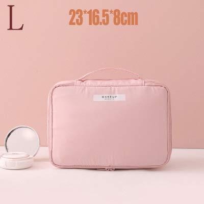 PoplarSun Sac cosmétique Voyage Esthéticienne Make up Sac de Maquillage Rapide Sac de Bourse de Sac de Toilette Organisateur Rose Maquillage Sac étanche Pouch (Color : Pink)