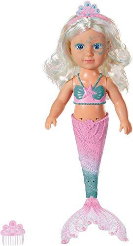 Zapf Creation 829370 BABY born Little Sister Meerjungfrau Puppe für das Wasser 46 cm