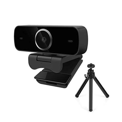 Xbai. Webcam,HD Pro Webcam, Full HD 1080p Video Calling, Clear Stereo Audio, HD Light Correction, Tripod Works with Skype,FaceTime, Laptop/Macbook/Tablet - Black