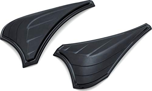 Kuryakyn 6825 Motorcycle Accent Accessory: Saddlebag Scuff Protectors for 2014-19 Harley-Davidson Motorcycles, Satin Black, 1 Pair