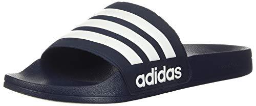 adidas Adilette Shower, Scarpe da Spiaggia e Piscina Uomo, Blu (Collegiate Navy/White/Collegiate Navy), 36.5 EU