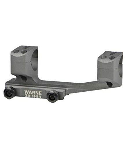 Warne Scope Mounts 20MOA Extended Skeletonized 30mm MSR Mount, Tactical Gray