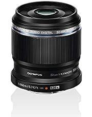 Olympus - M.Zuiko Digital ED 30 mm F3.5 Macro Objetivo, Adecuado para Todas Las cámaras MFT, Modelos Olympus OM-D & Pen, Panasonic G-Series, negro
