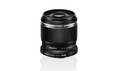 Olympus M. Zuiko Digital ED 30mm F3.5 Macro-Objektiv, geeignet für alle MFT-Kameras (Olympus OM-D & PEN Modelle, Panasonic G-Serie), schwarz