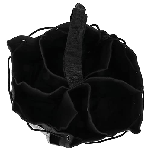 ツールバッグ、キャンバス 緩みやすい 丈夫なガーデンツールバッグ 耐摩耗性 メンテナンス作業に 電気工事士 ガーデニング作業に(Black + gray fight)