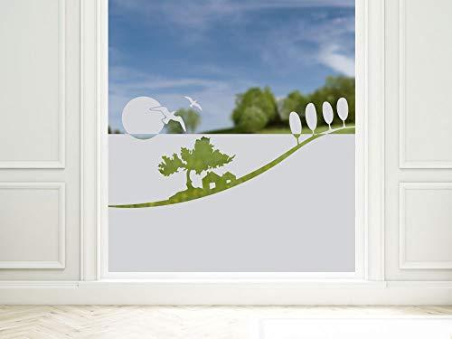 GRAZDesign privacy film Bad Toskana landschap, raamfolie als zichtscherm, douche glazen deur, 57cm hoog 90x57cm