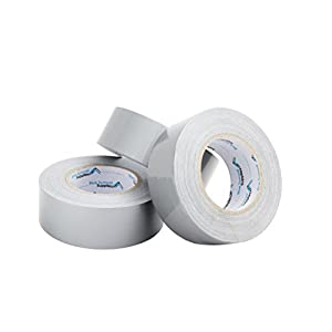 3 Pack Duct Tape, Tear by Hand Design, Silver, Strong 7.3mil Thickness, Designed for Home and Office use with Commercial Grade Strength, 60 Yard Length, 180 Total Yards