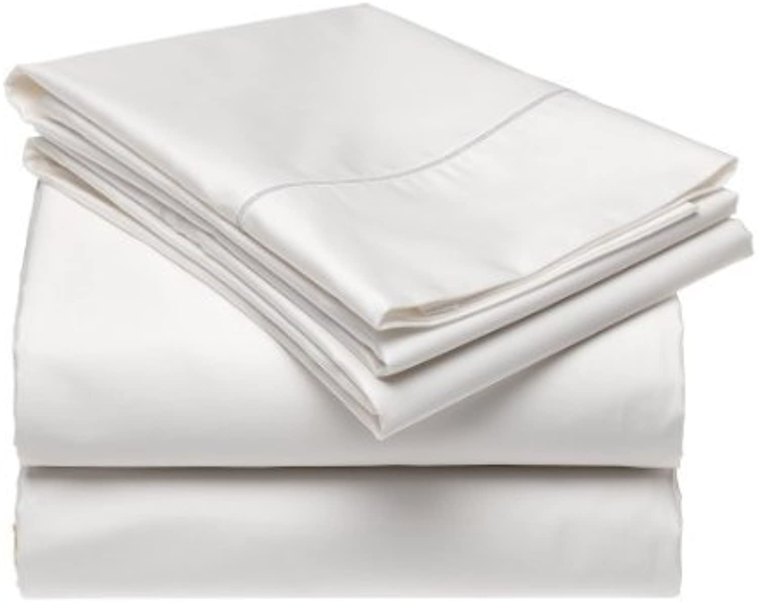 Luxurious 600 Thread-count, 100% Cotton Soft, Comfortable, Breathable (Queen, White)