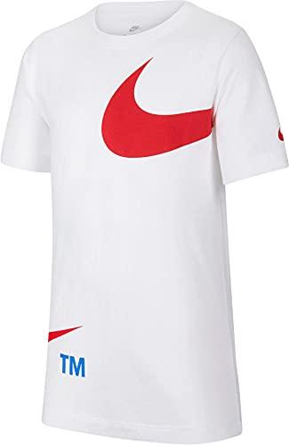 Nike Swoosh Pack Fa21 T-Shirt, Bianca, 152 Bambino