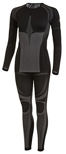 Medico Sport-professioneel functioneel ondergoed, heren en dames, seamless set (overhemd + broek) van hoge kwaliteit, thermo- en functioneel ondergoed, zonder storende naden met elastaan, zeer elastisch, skiondergoed, motorfietsondergoed, ondergoed