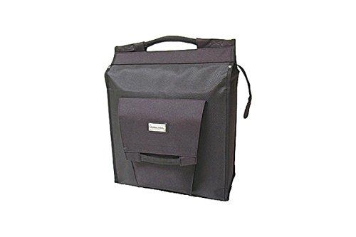 New Looxs Unisex-Adult Gepäckträgertasche/Einkaufstasche Fahrradtasche Daily Shopper, Black, 35 x 40 x 16 cm