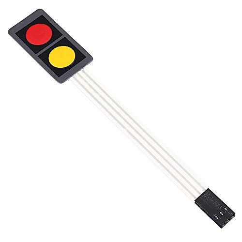 Módulo de interruptor de película de presión de 2 teclas de 5 uds, módulo de interruptor electrónico de teclado extendido de microordenador de un solo chip