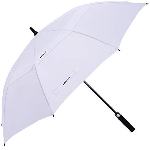 ZEKAR 54/62/68 Inch Windproof Large Golf Umbrella, Oversized Double Canopy Vented Waterproof Stick Umbrellas Automatic Open for Men Women, Including Wooden Handle Version