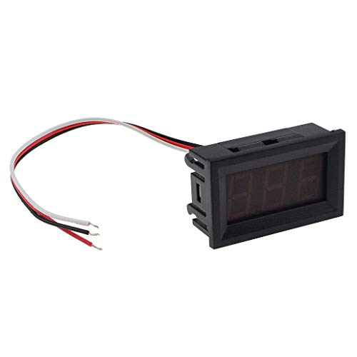 Gaoominy Voltmetro universale per monitor digitale Misuratore di tensione a LED impermeabile per il camion di automobile del motociclo automobile di CC 12V-24V verde