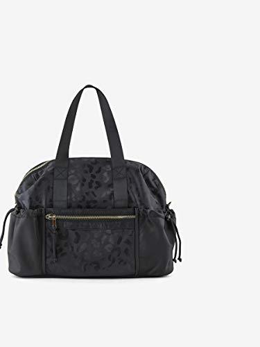 Pieces Damska torba na ramię PCSILUNA NYLON WEEKEND BAG, czarny - Black Aop:leo - jeden rozmiar