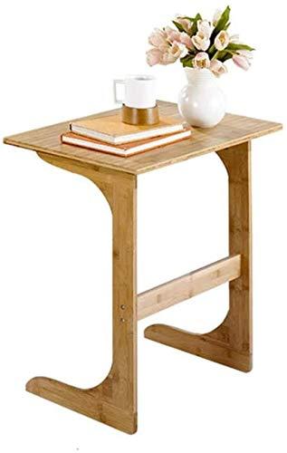 Mesa auxiliar de sofá en forma de C, pequeña mesa de centro móvil para el hogar, mesa de cuaderno moderna junto a la cama, mesa perezosa, muebles de madera maciza para sala de estar, dormitorio,