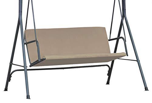 Ferocity Universale Abdeckung für die Sitze der Hollywoodschaukel für Garten-Schaukel Sitzpolsterbezug Sitzbezug Sitzflachenbezug Schaukelauflage Größe 100 x 138 Beige [101]