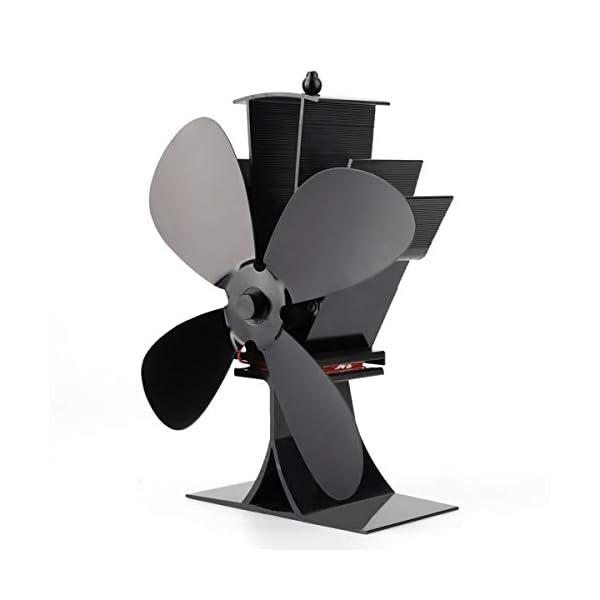 Locisne Funcionamiento silencioso Mini 4 cuchillas Chimenea de calor Estufa de ventilador Ventilador Estufas de chimenea…
