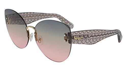 SALVATORE FERRAGAMO Gafas de Sol SF208S GREY/GREY PINK SHADED 65/13/145 mujer