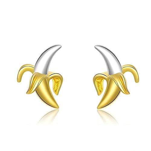 OTXA 925 Silver Banana Stud Pendientes De Boda De Mujer Pendientes Pequeños Joyería De Moda Regalos
