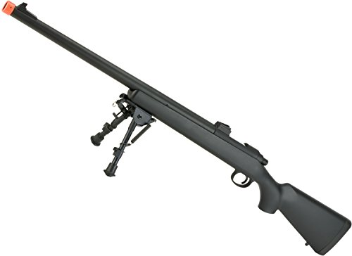 Evike Airsoft - CYMA Standard VSR-10 Realistic Cycling Action Airsoft Sniper Rifle (Color: Black w/Iron Sights)
