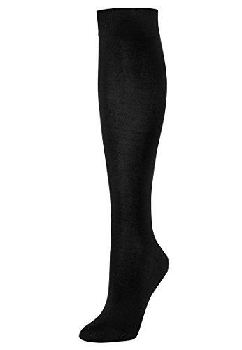 Wolford Merino Knee-Highs Calcetines altos, Negro (Black 7005), M para Mujer