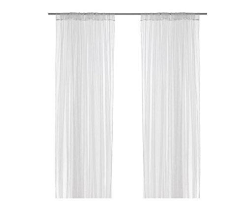 """IKEA LILL mesh lace curtains, 8 panels (4 pairs), 110"""" x 98 """""""