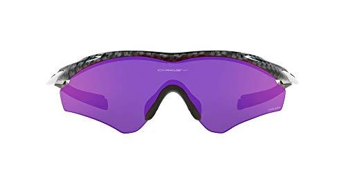 Product Image 1: Oakley Men's OO9345 M2 Frame XL Asian Fit Rectangular Sunglasses, Carbon Fiber/Prizm Road, 45mm