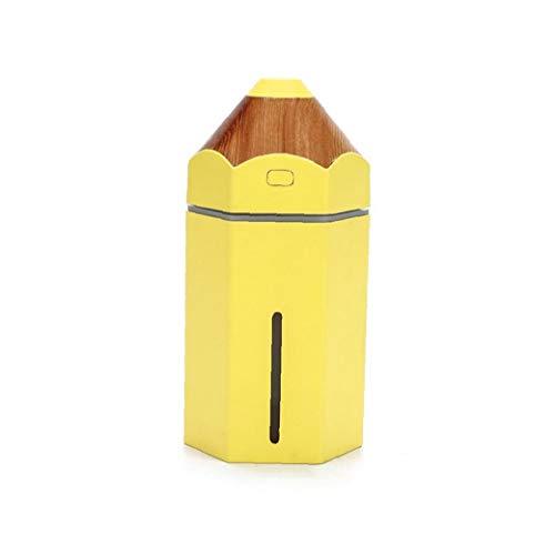 Nicetruc Lápiz Amarillo Diseño del Ministerio del Interior USB humidificador de Vapor frío Mini Led difusor del purificador