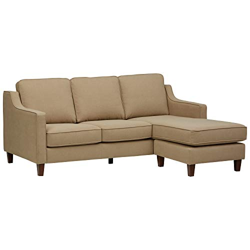 Amazon Brand – Stone & Beam Blaine Modern Sectional Sofa, 79.5'W, Beige