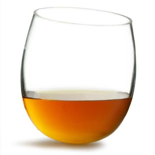 bar@drinkstuff Confezione da 2 Bicchieri da Whisky a Dondolo da 300 ml, in Vetro di Alta qualità