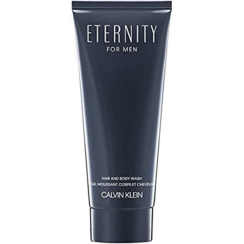 CALVIN KLEIN Eternity Hair and Body Wash for him, 2in1 Duschgel für Haare und Körper, holzig-aromatischer Duft, 200 ml