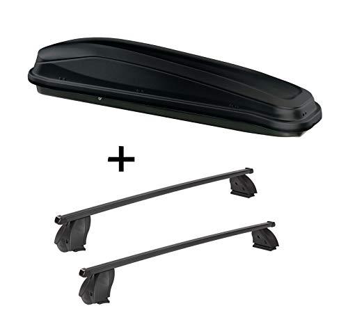 VDP dakkoffer JUEASY300 300 liter zwart + imperiaal K1 MEDIUM compatibel met Ford Focus II (3-5-deurs) 05-10