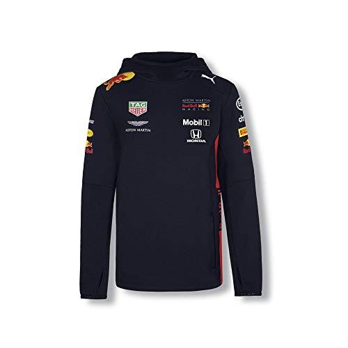 Red Bull Racing Official Teamline Sudadera con Capucha, Azul Niños Hoodie, Racing Aston Martin Formula 1 Team Original Ropa & Accesorios