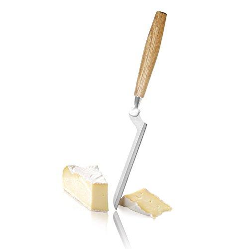 BOSKA 320207 Couteau à Fromage Brie en chêne/Acier Inoxydable, Argent/Brun, 27 x 3 x 1 cm