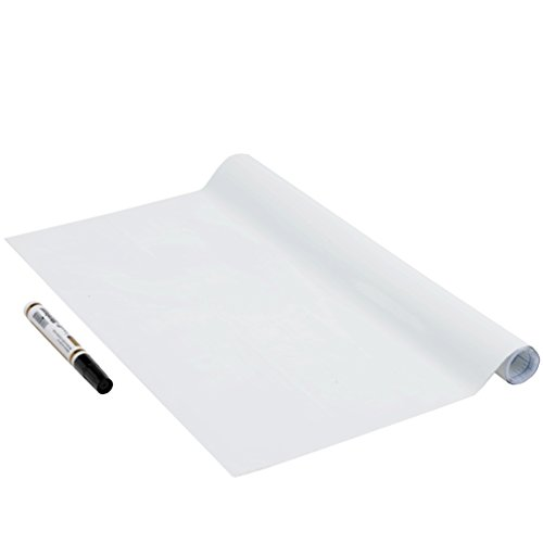 Venilia inklusiv Tafelfolie Whiteboard Schreibtafel-Folie inkl. Stift selbstklebend, Weiss, ohne Phthalate, 45 cm x 1,5 m, 150µm (Stärke: 0,15 mm), 53005, PVC, 150 x 45 cm