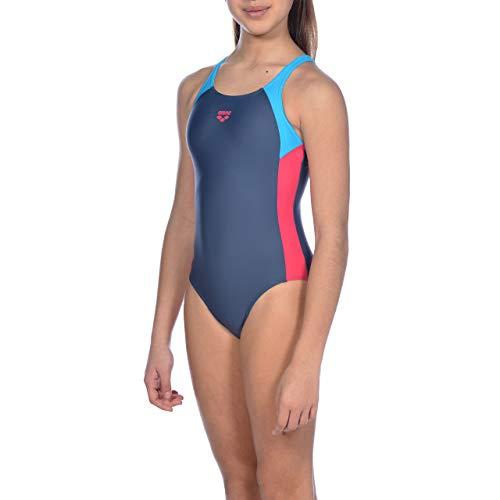 ARENA Mädchen Sport Badeanzug Ren, Shark-Turquoise-Freak Rose, 140