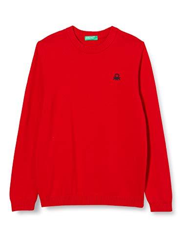United Colors of Benetton (Z6ERJ) Jungen Maglia G/C M/L Pullover, Red 015, S