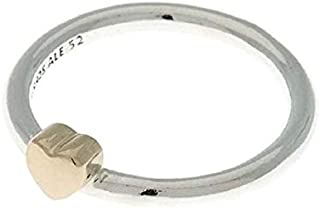 Pandora Women's Silver ring with 14k heart Ring