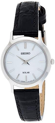 Lorus Damen Analog Solar Uhr mit Leder Armband SUP299P1