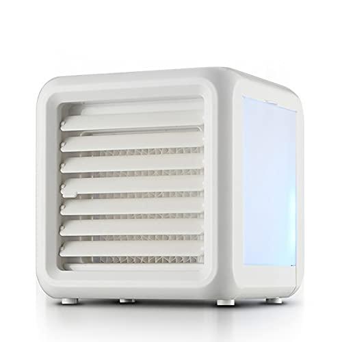 ZEMENG Condizionatore d'Aria Portatile, 3 velocità del vuce Notturna, Grande Serbatoio di Acqua Ultra Works, 3 in 1 USB Piccola scrivania da scrivania Ventola per la Camera da Letto per Ufficio