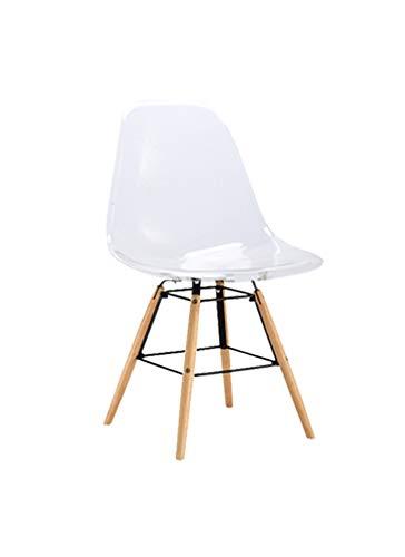 Fendini kristallen stoel, plexiglas, transparant, L 46,5 x D 52 x H 81,5