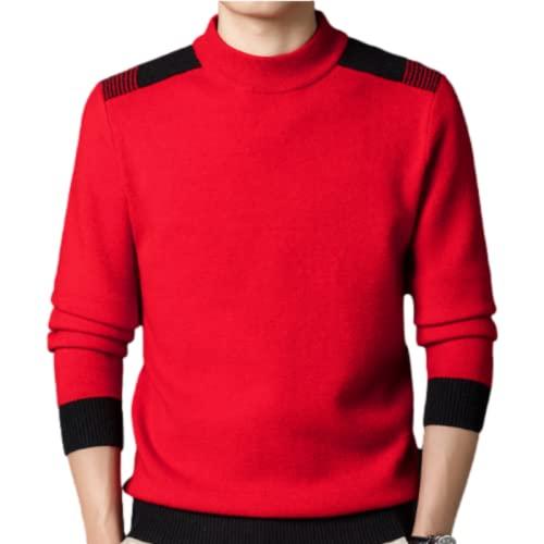 Jersey para Hombre, suéter con Puntada, Cuello Redondo, Tejido, Suave, térmico, para otoño e Invierno, de Gran tamaño M